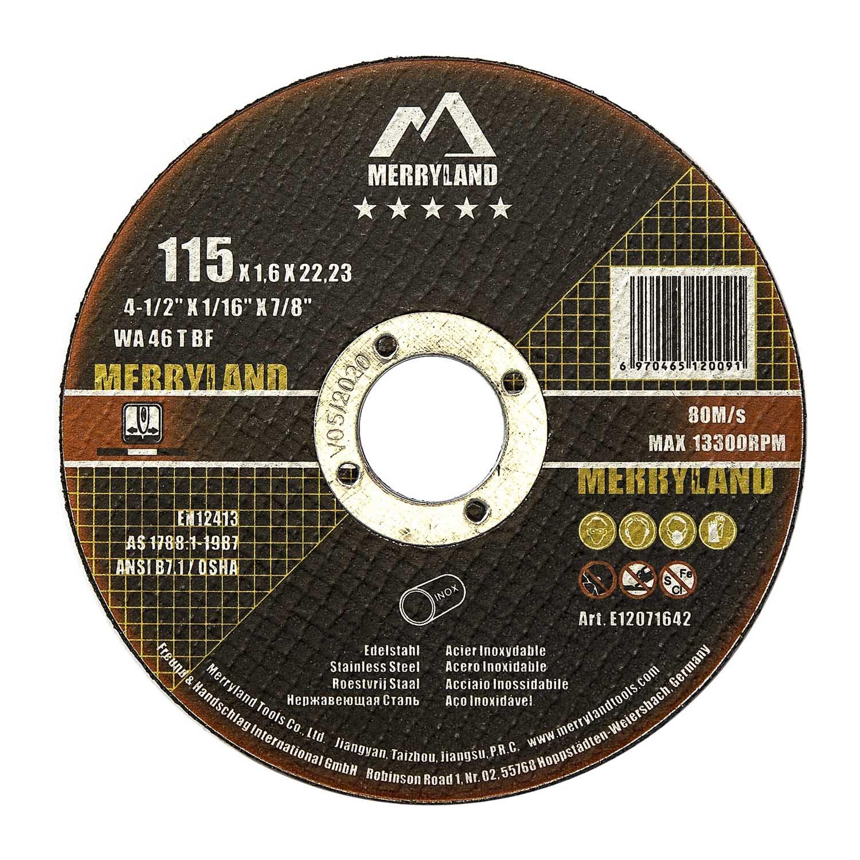 Merryland 115 X 1.6 Expert-line Cutting Disc INOX Stainless Steel Metal 25PCS