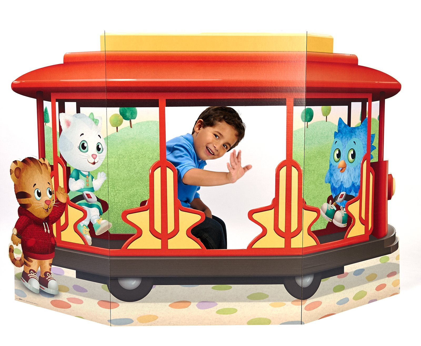 BirthdayExpress Daniel Tiger Room Decor - Trolley Life Size Cardboard Standup