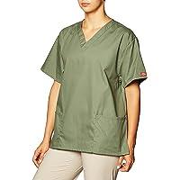 Dickies Womens EDS Signature Scrubs EDS Signature V-Neck Top with Patch Pockets Medical Scrubs Shirt