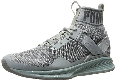 PUMA Women s Ignite Evoknit Metal WN s Cross-Trainer Shoe Quarry-Quiet  Shade Silver 07ef7fbf1