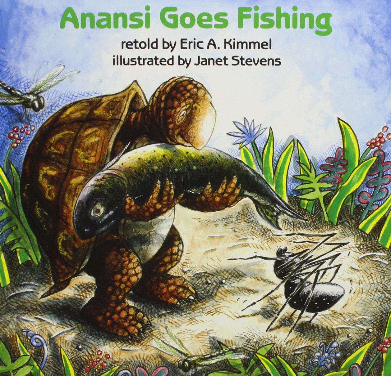 Read Online Anansi Goes Fishing (1 Paperback/1 CD) (Live Oak Readalong) PDF