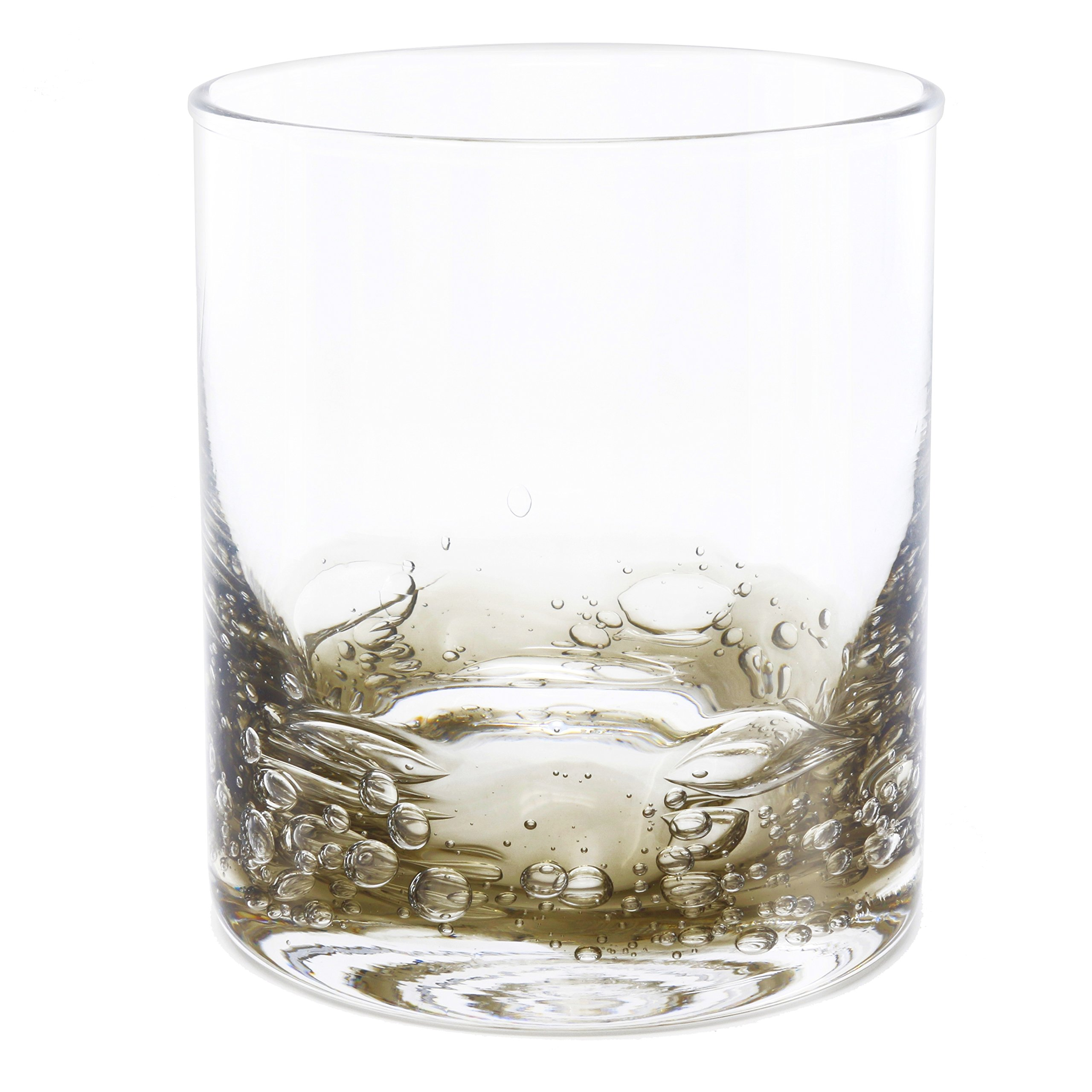 NÄU Zone Jovian Collection Cocktail Glasses Set of 4: Beautiful Hand-Blown 12-oz Rocks Glasses - Perfect for Whiskey, Bourbon, Scotch, or Any Mixed Drink - [CHARCOAL]