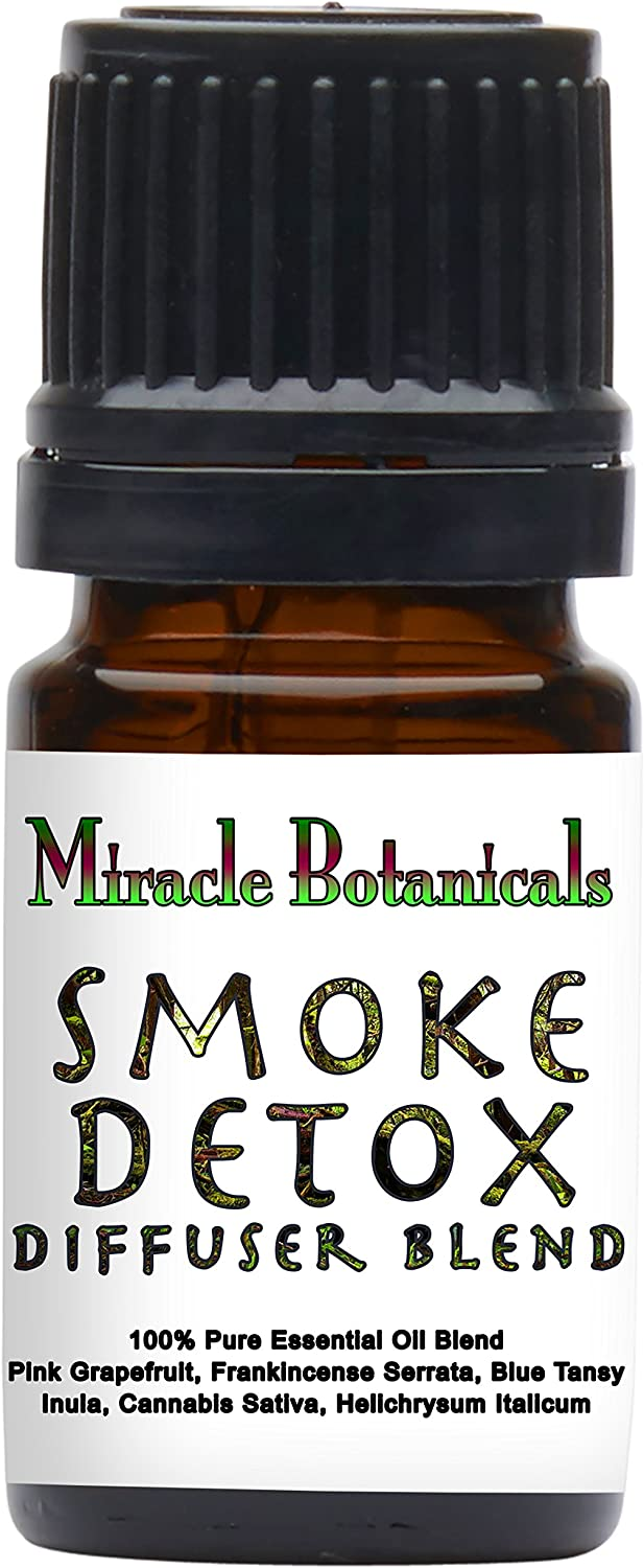 Miracle Botanicals Smoke Detox Blend - 100% Pure Essential Oil Blend - Therapeutic Grade.5ml