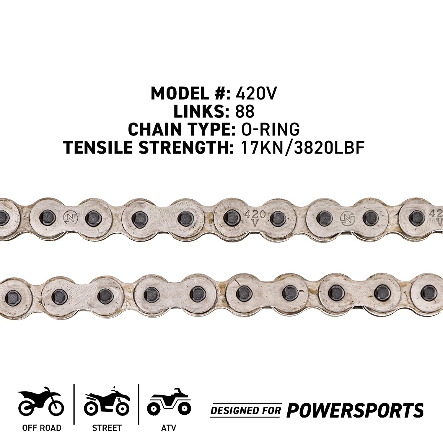 NICHE 420 Drive Chain 132 Links O-Ring With Connecting Master Link for Motorcycle ATV Dirt Bike