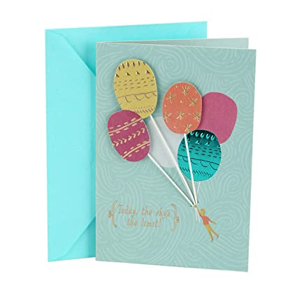Amazon Hallmark Birthday Greeting Card For Her Balloons