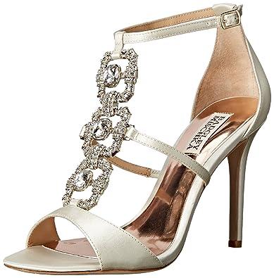 Badgley Mischka Women's Allie Dress Sandal, Ivory, ...