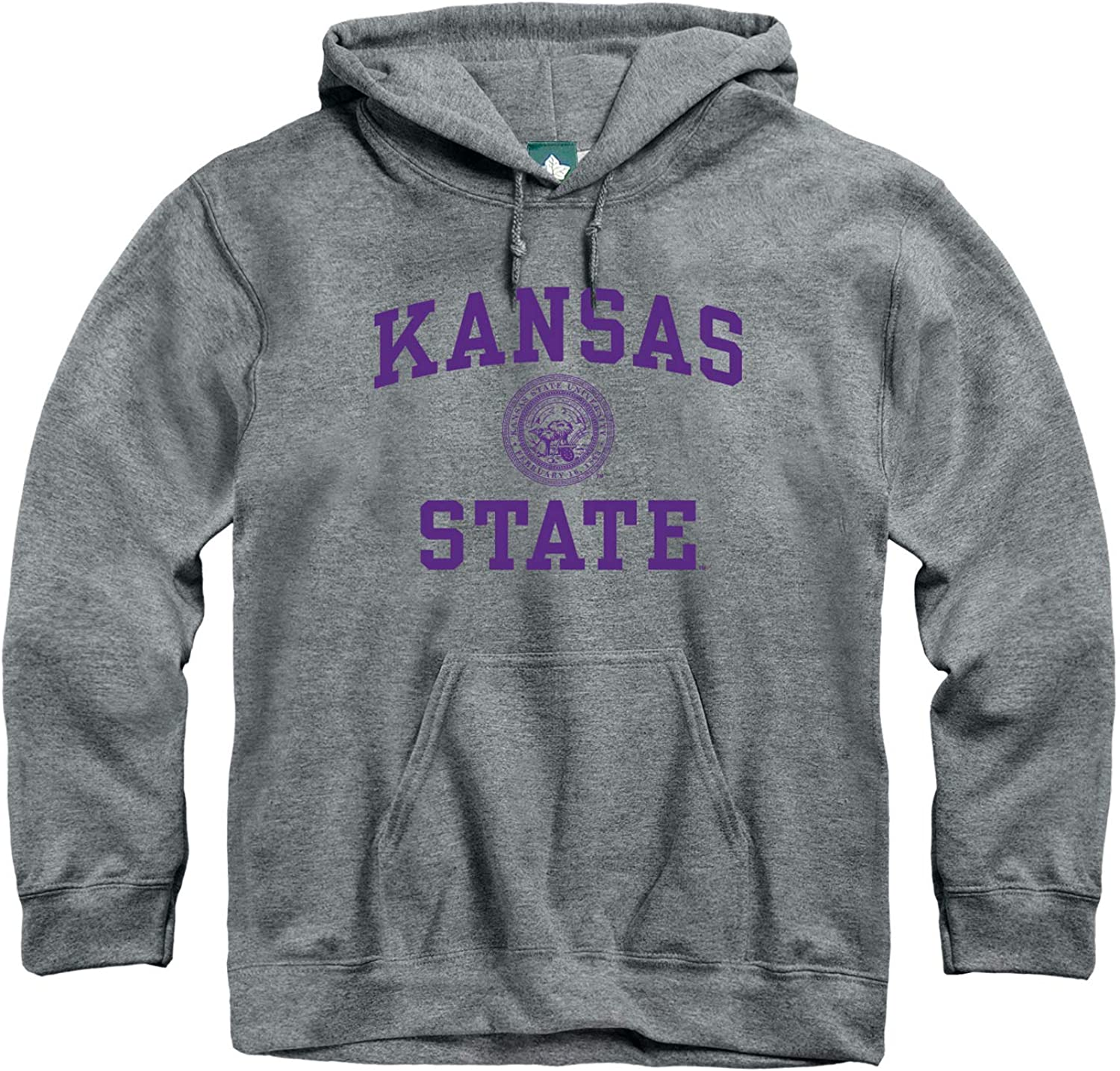 Heritage Logo Grey NCAA Colleges and Universities Cotton//Poly Blend Ivysport Hooded Sweatshirt