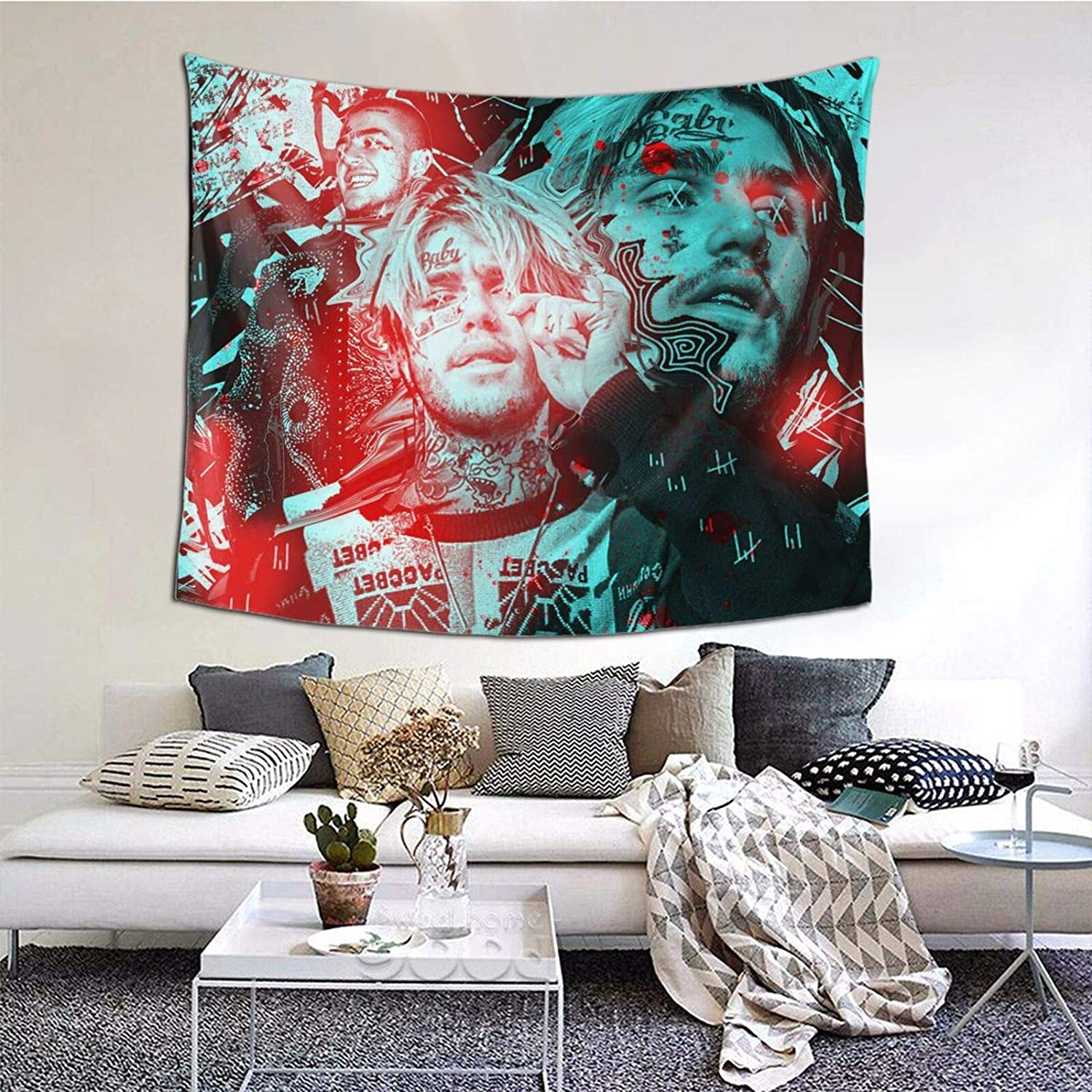 Lil_Peep Love Rapper Tapestry Wall Hanging For Living Room Bedroom Dorm Room Home Decor 60x51in A