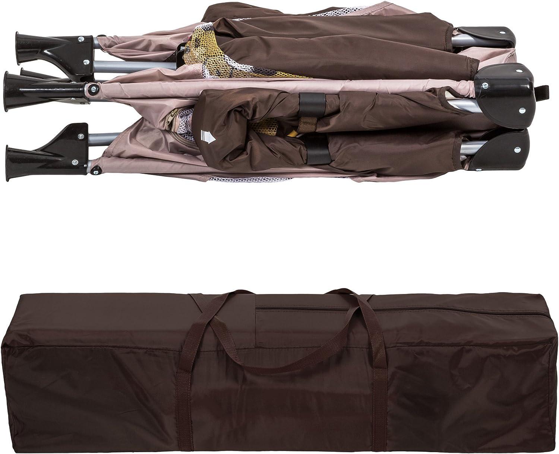diverses couleurs au choix TecTake Parc pour B/éb/é Lit de B/éb/é Parapluie Pliant avec Sac de Transport Beige | No. 402208