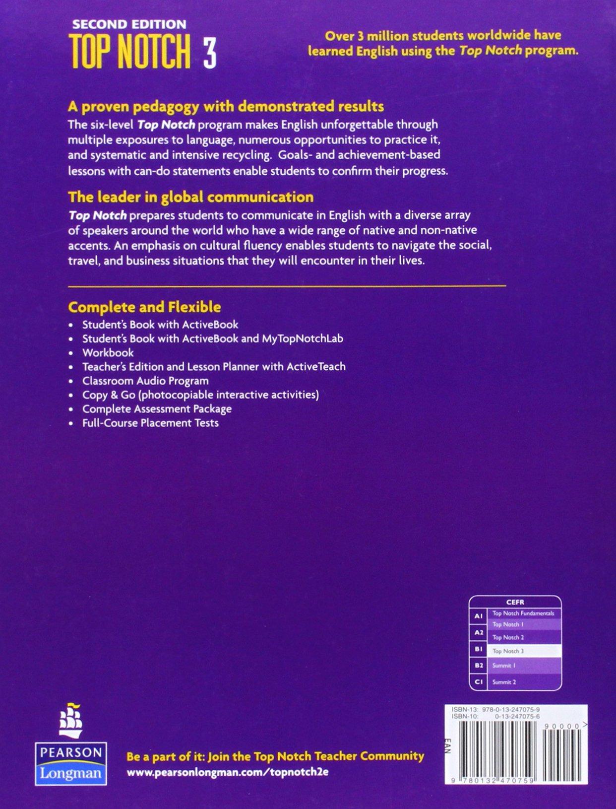 Top Notch 3 Workbook A Cdi Box Wiring Diagram For Titan Generator Array Joan M Saslow Allen Ascher 9780132470759 Rh