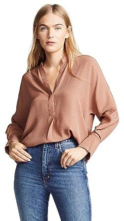 bb3d0a55fbcde Amazon.com  Vince Women s Dot Jacquard Popover  Clothing
