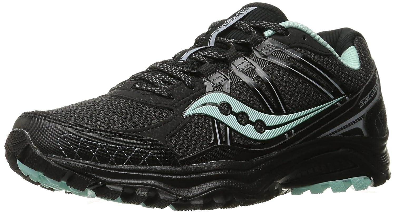 Saucony Women's Grid Excursion Tr10 Trail Running Shoe B01923DZ20 6.5 B(M) US|Black/Mint