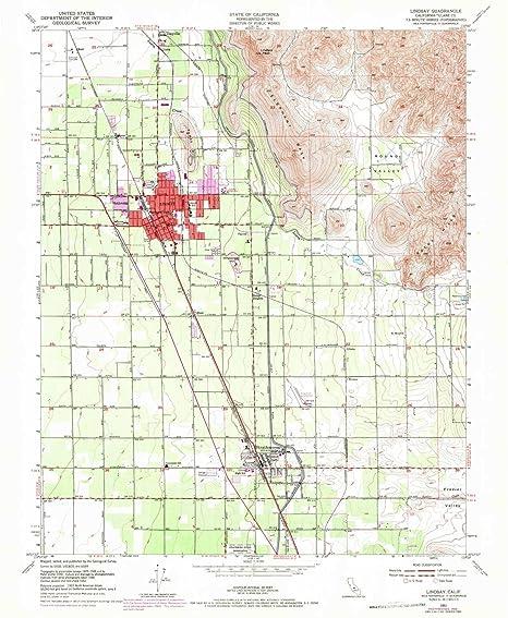 Lindsay California Map.Amazon Com Yellowmaps Lindsay Ca Topo Map 1 24000 Scale 7 5 X