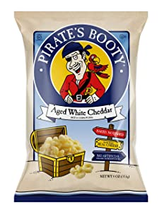 Pirate's Booty Healthy Cheese Snack Puffs, Aged White Cheddar, 4 oz.