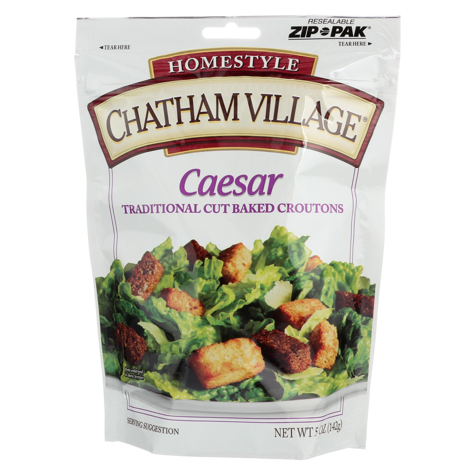 Chatham Village Traditional Cut Croutons - Caesar - Case of 12-5 oz.
