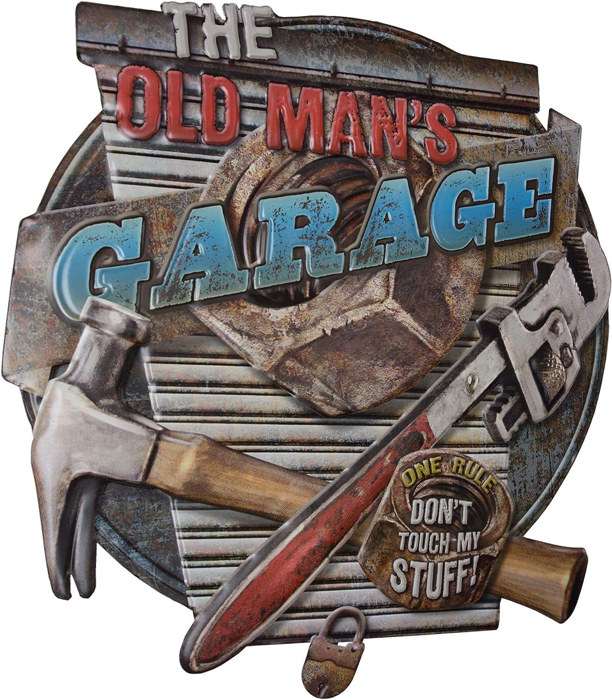 Shed Mancave Citroen Car Advert Vintage Look Retro Style Metal Sign Garage