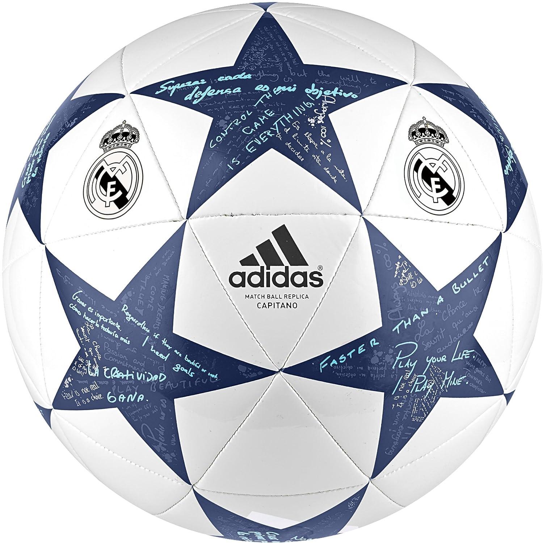 adidas Finale16Real MadridCap - Balón de fútbol, Color Blanco, Talla 5 AP0390