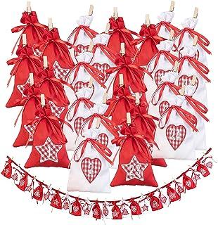Adventskalender Tütchen L 280cm Weihnachtskalender selbst gestalten Tüten