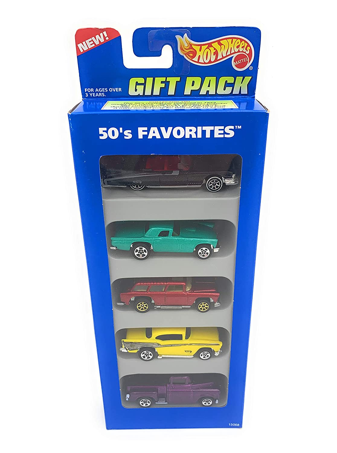 1995 Hot Wheels '59 Caddy, '57 T-bird, Chevy Nomad, '57 Chevy, '56 Flashsider
