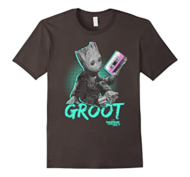 2 Baby Groot Neon Tape Graphic T-Shirt 2XL Asphalt