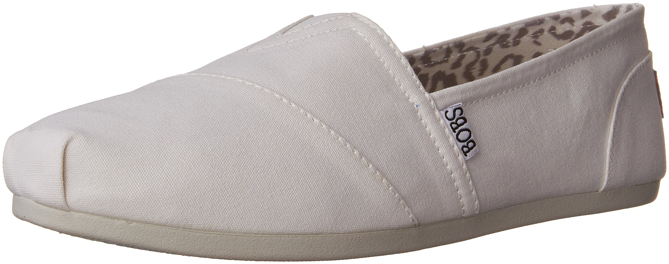 BOBS from Skechers Women's Plush Peace and Love Flat,White,7.5 M US by Skechers