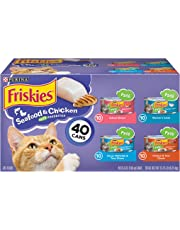 Purina Friskies Pate Wet Cat Food Variety Pack; Seafood & Chicken Pate Favorites - (40) 5.5 oz. Cans