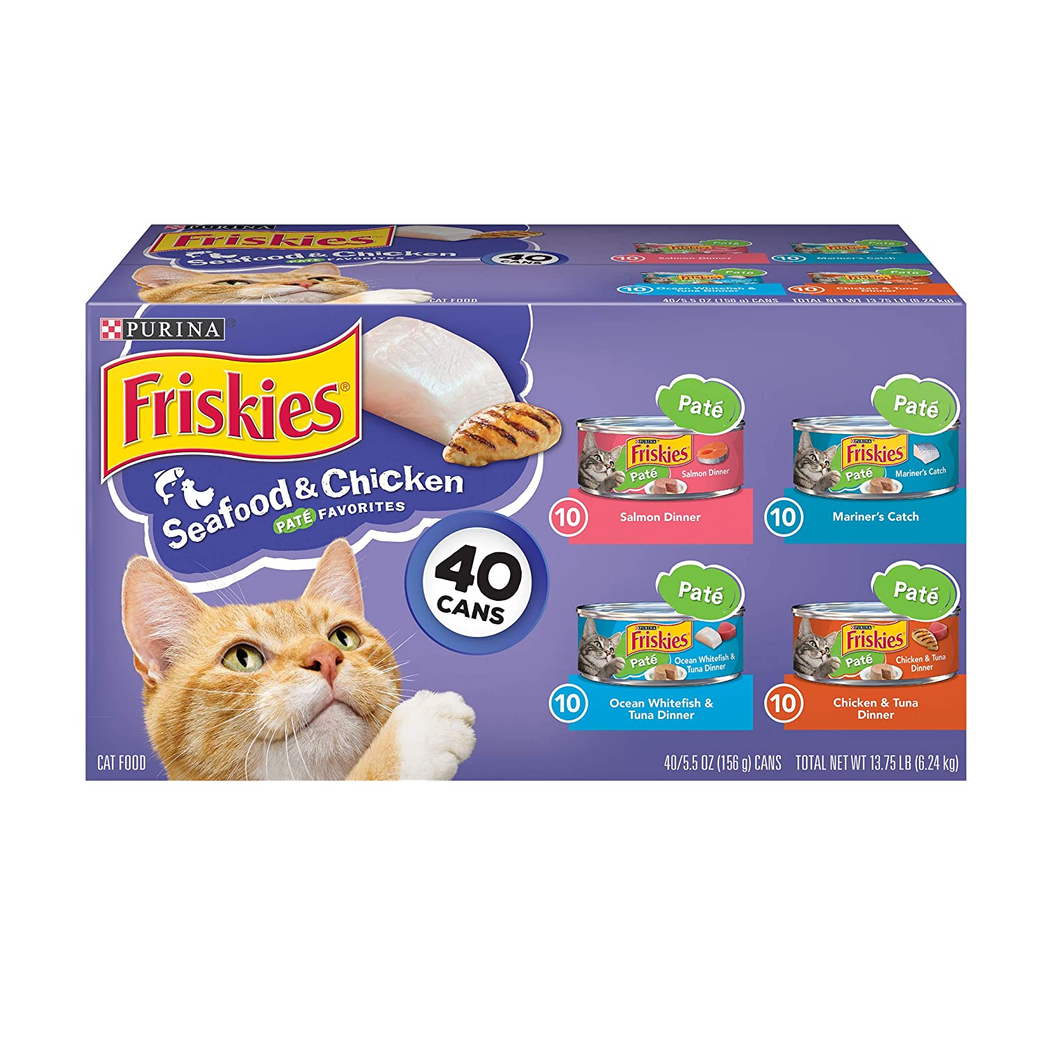 Purina Friskies Canned Wet Cat Food 40 ct  Variety Packs