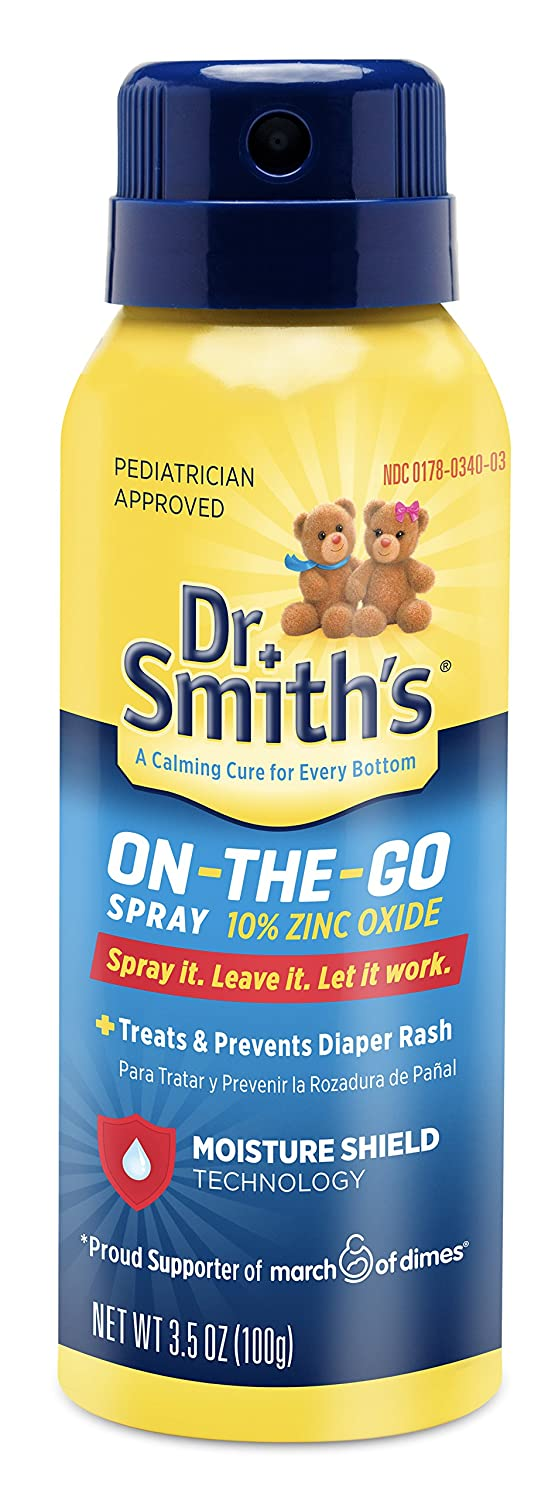 Dr. Smith's On-the-Go Diaper Rash Spray, 3.5 Ounce Mission Pharmacal Company 551503