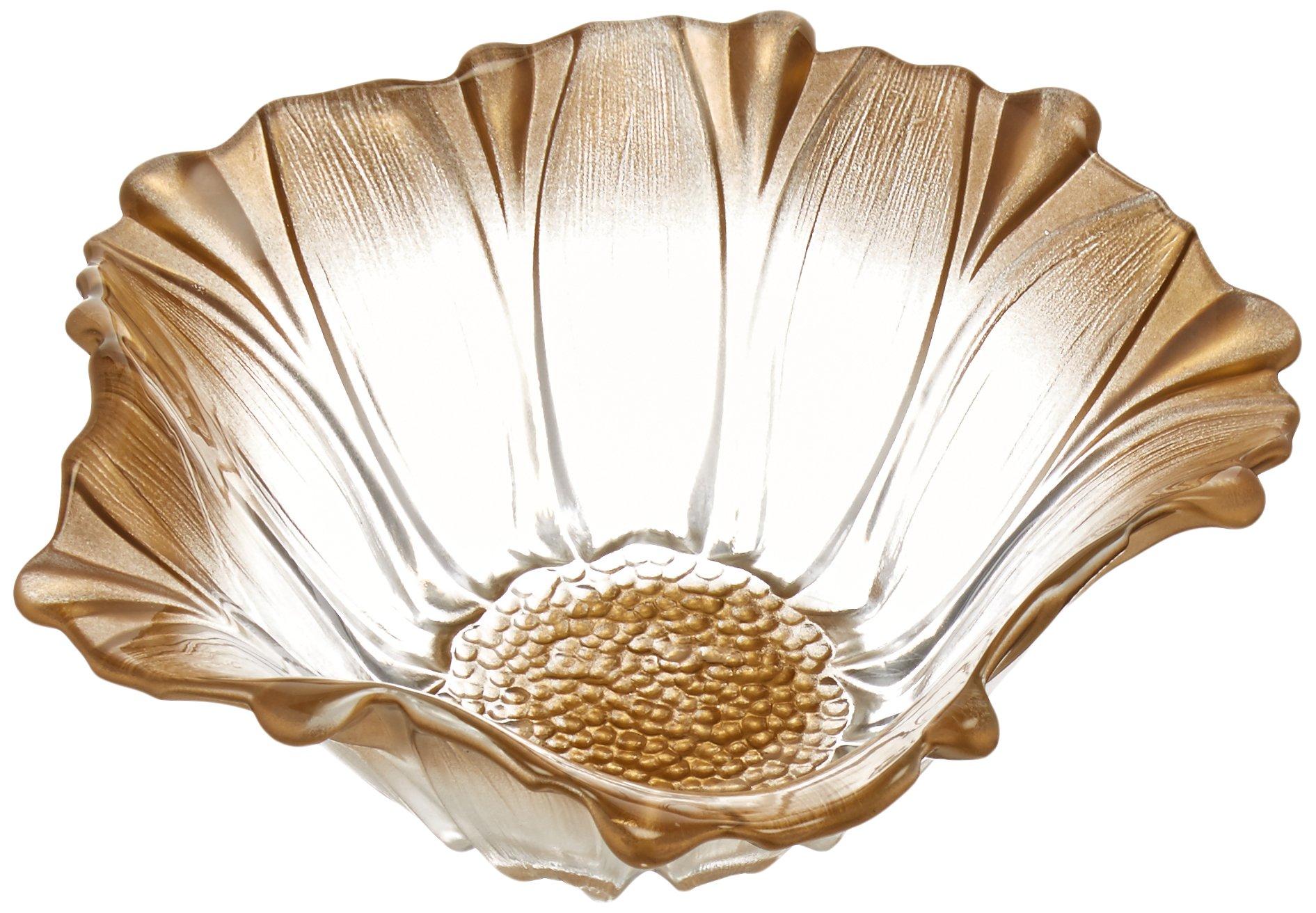 Fifth Avenue Crystal Venezia Flower Bowl, 8-Inch, Gold