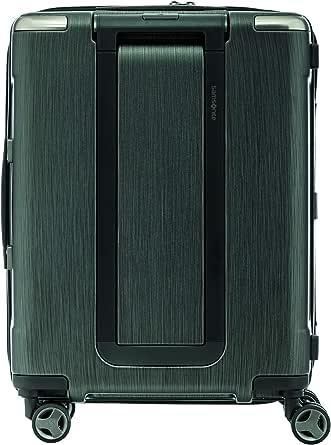 Samsonite 92053 EVOA Hard Side Spinner Suitcase, Brushed Black, 55 Centimeters