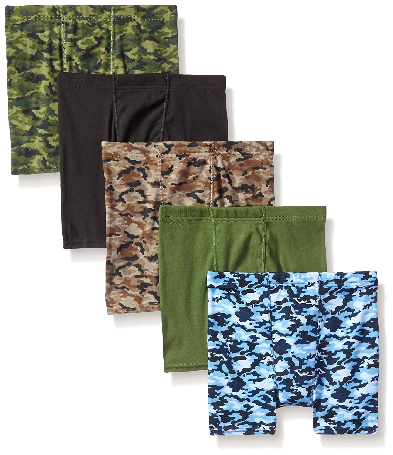 Hanes Boy's 5 Pack ComfortSoft Boxer Brief - Colors May Vary Hanes Boys Red Label Bottoms B755P5
