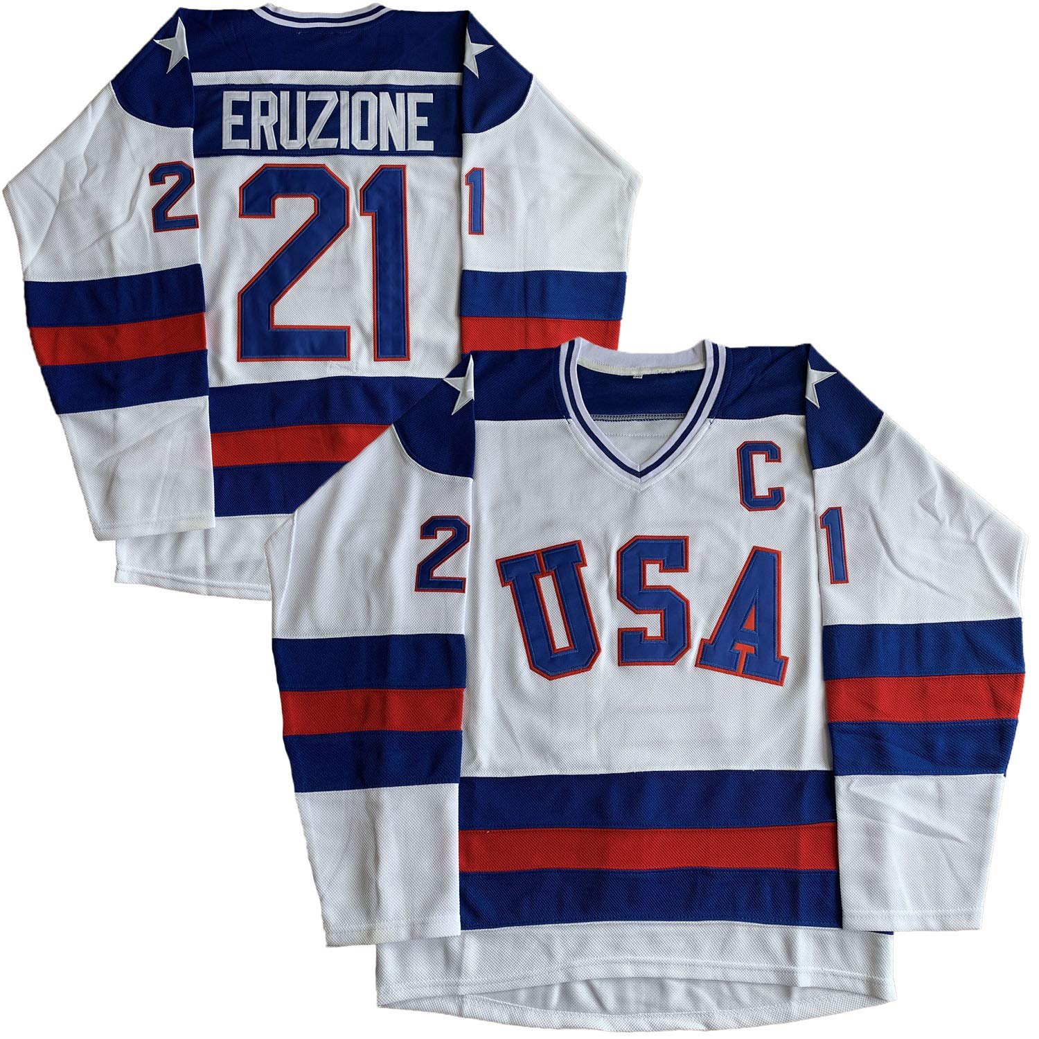 1980 USA Olympic Hockey #21 Mike Eruzione #17 O'Callahan #30...