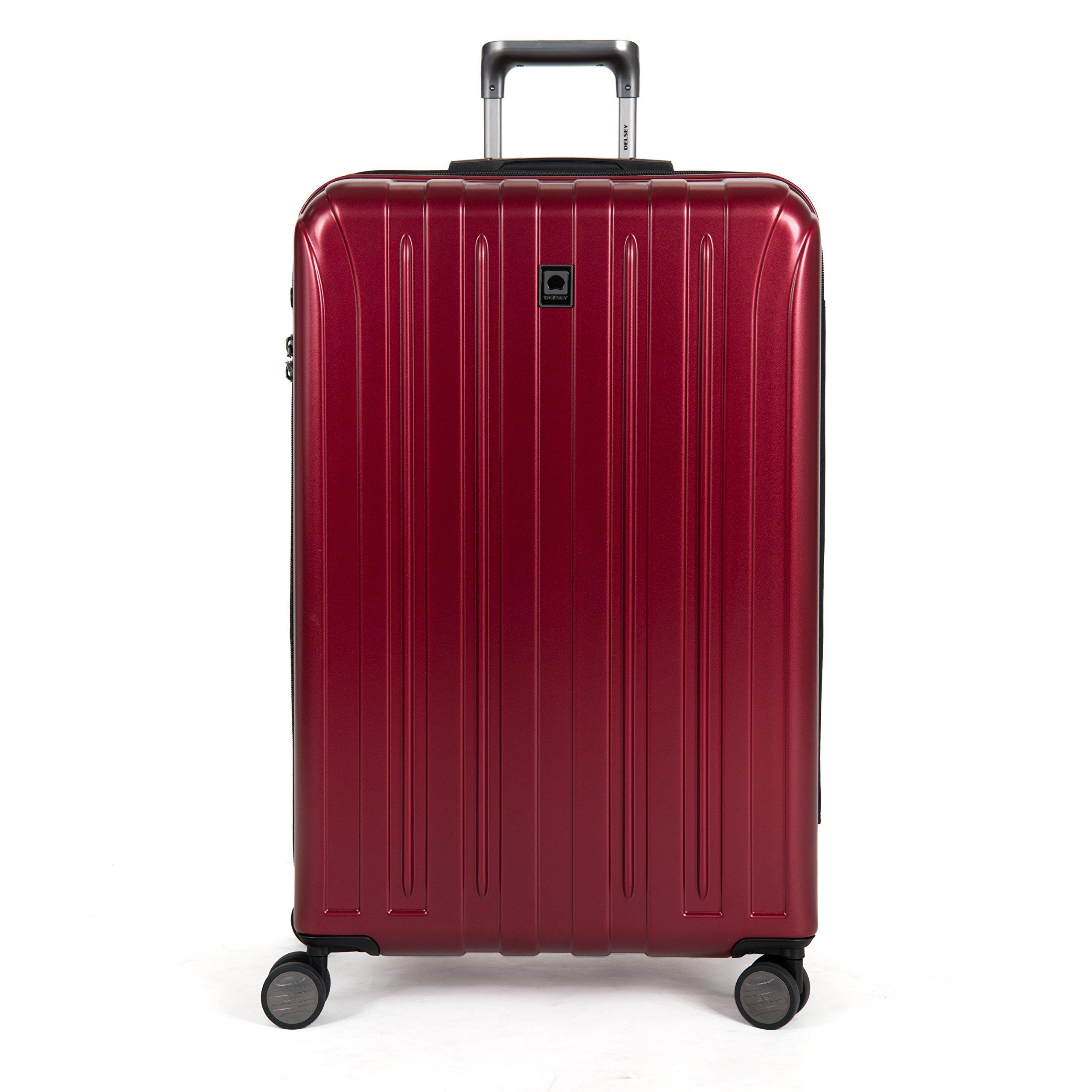 DELSEY Paris Luggage Helium Titanium 29'' Exp. Spinner Trolley Hard Case Suitcase, Black Cherry, One Size