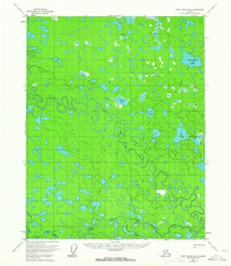 Fort Yukon Alaska Map.Amazon Com Yellowmaps Fort Yukon B 4 Ak Topo Map 1 63360 Scale 15