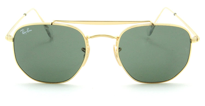 Amazon.com  Ray-Ban RB3648 Marshal Unisex Metal Sunglasses Gold 001 - 51mm   Clothing b19cb00aac