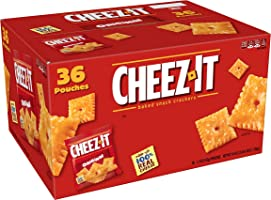 Cheez-It Baked Snack Cheese Crackers, Original, Single Serve, 1.5 Oz Pack of 36