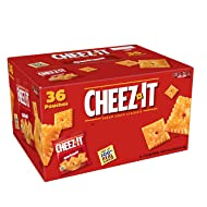 Cheez-It Baked Snack Cheese Crackers, Original, Single Serve, 1.5 oz Bags(36 Count)