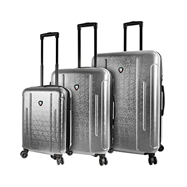 Mia Toro Italy Manta Hardside Spinner Luggage 3pc Set, Silver