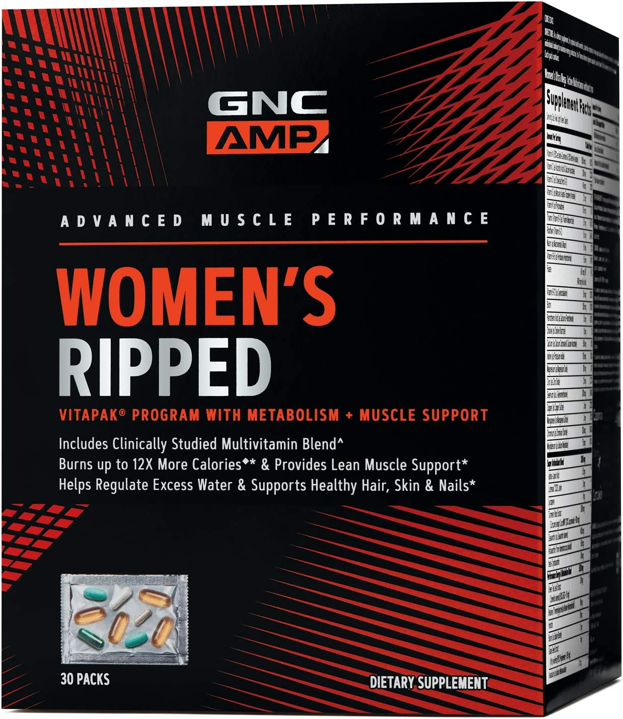 GNC AMP Womens Ripped Vitapak Program