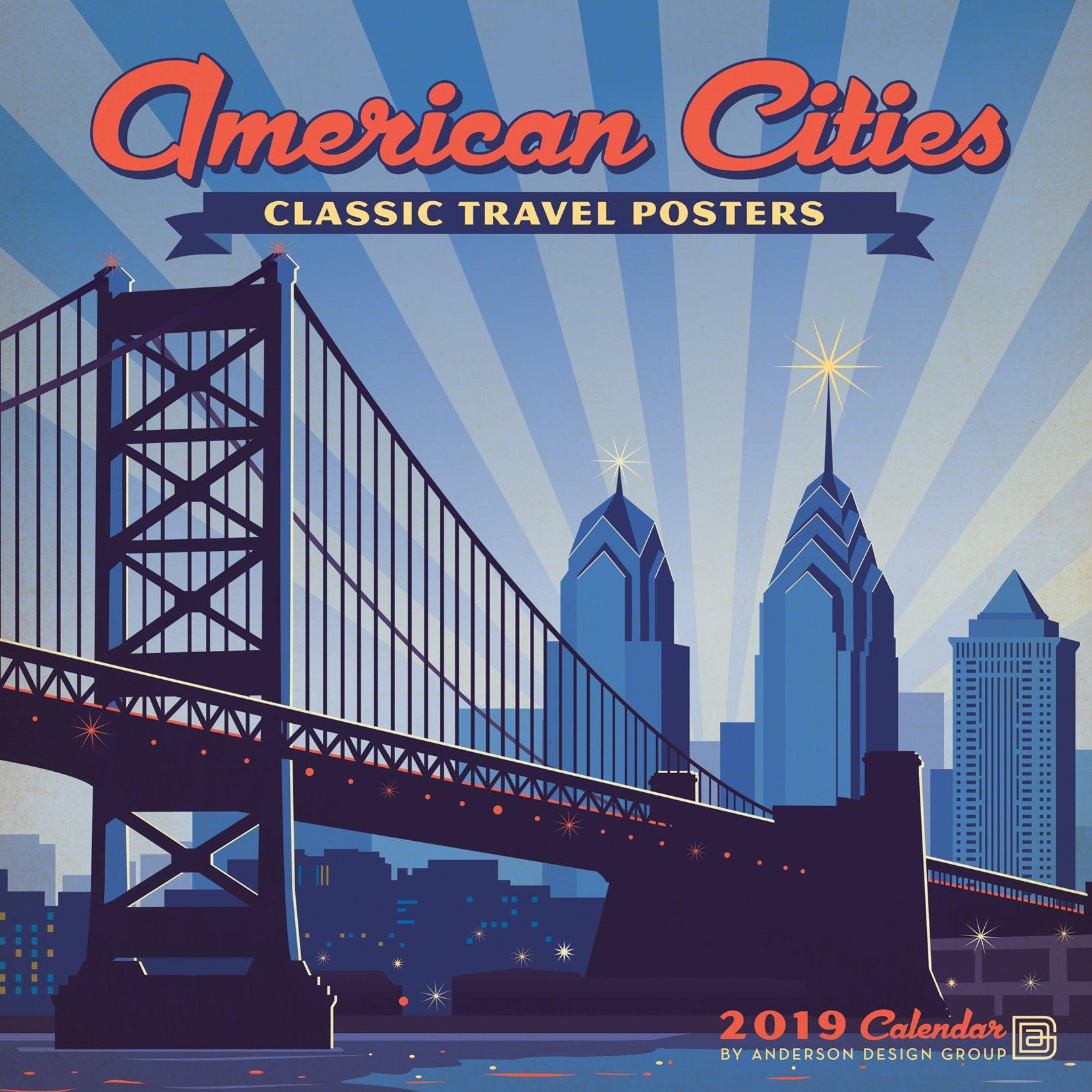 City Calendar 2019 Amazon.com: American Cities Classic Posters 2019 Wall Calendar