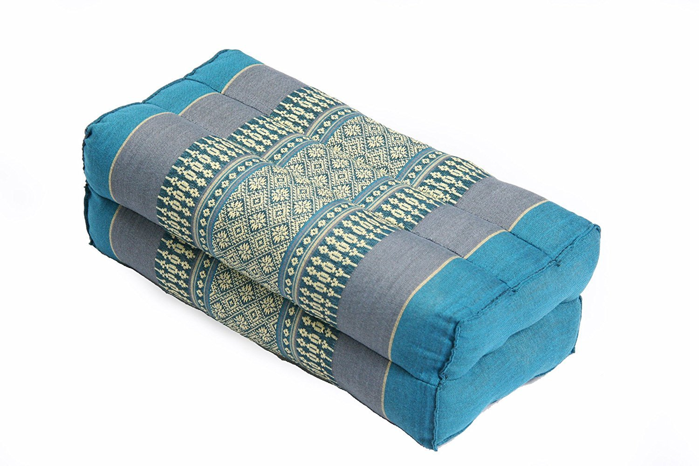 Thai Yoga Pillow Block (Blue Grey)