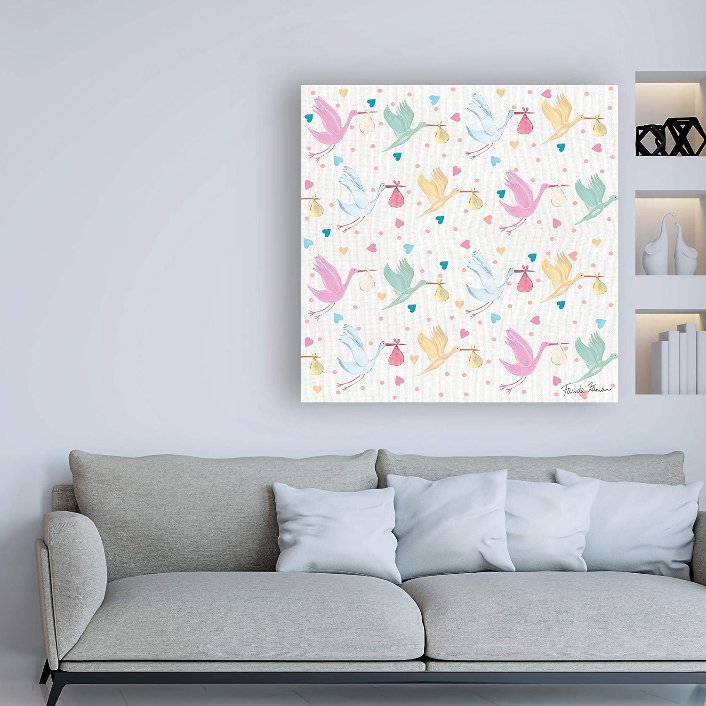 Amazon.com: Trademark Fine Art Happy Baby Pattern VI by ...