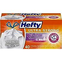 Hefty Ultra Strong Tall Kitchen Drawstring Trash Bag, Lavender Sweet Vanilla, 40 Count