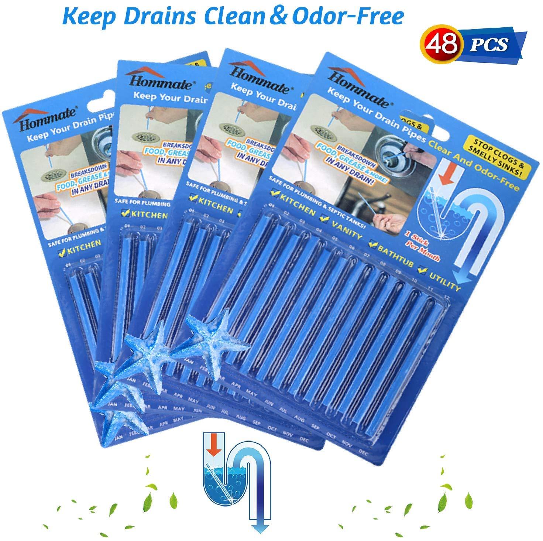 Amazon Com Drain Stick Cleaner And Deodorizer Clog