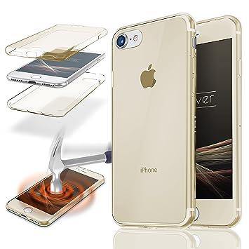 Urcover® Funda Compatible con Apple iPhone 7 Carcasa Protectora 360 Grados Silicona Gel en Transparente Full Body Protección Completa Delantera + ...