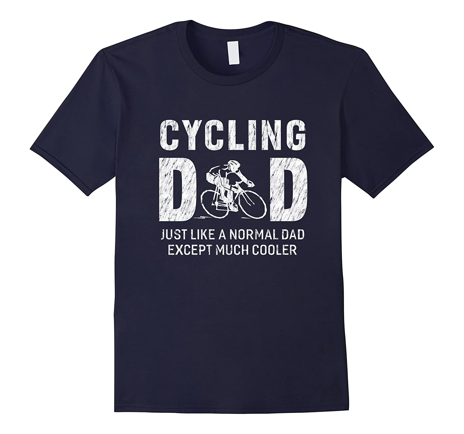 Cycling Dad Gifts For Father Cycle Bike Men T-shirt-TH