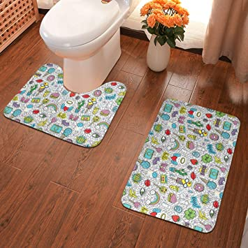 Absorbent Soft Bathroom Bedroom Floor Non-slip Mat Memory Foam Bath Shower R POQ