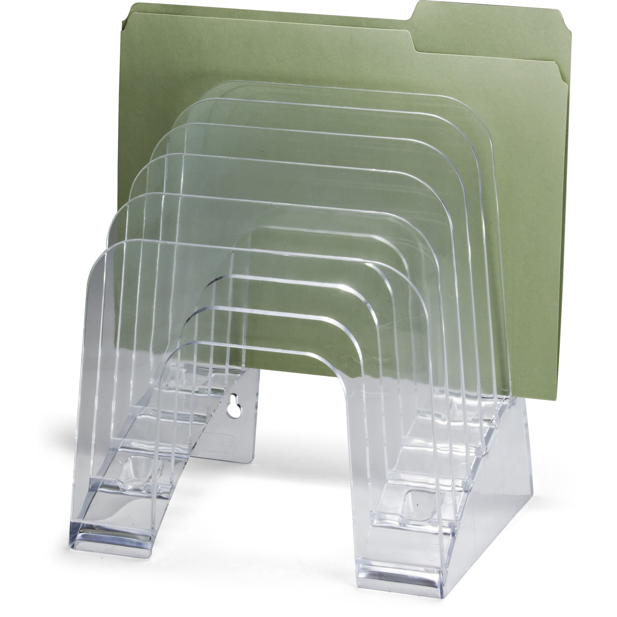 OfficemateOIC Jumbo Incline Sorter, 6 Compartment, Holds Letter and A4 Size, Clear (22934) by Officemate