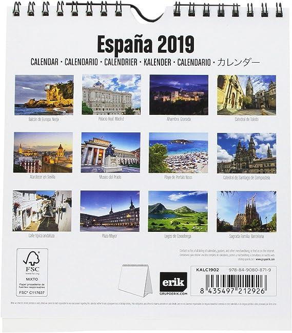 Grupo Erik Editores KALC1902 - Calendario turístico 2019 España ...