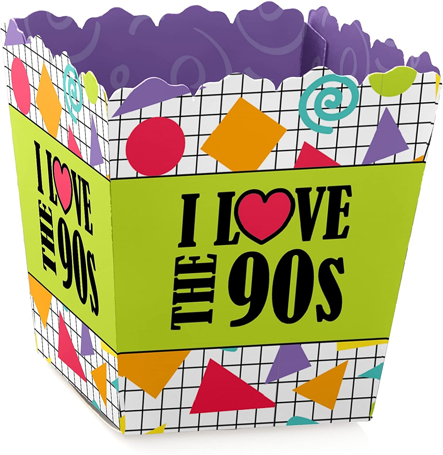 90's Throwback - Party Mini Favor Boxes - 1990s Party Treat Candy Boxes - Set of 12